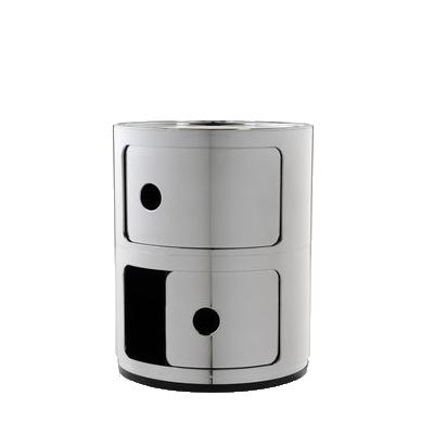COMPONIBILI Container chrom mit Schubklappe