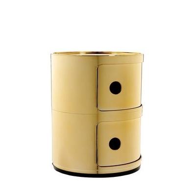 Seitenansicht COMPONIBILI Container 2 Fächer gold