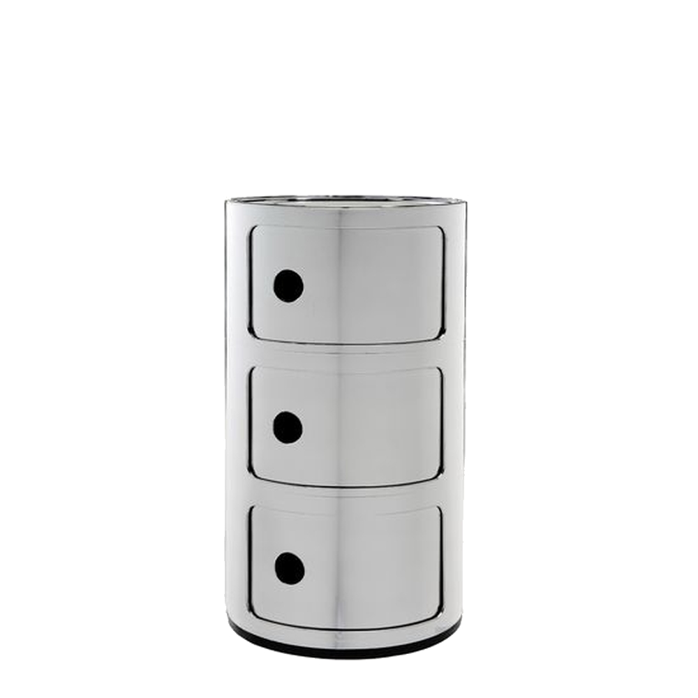 COMPONIBILI Container 3 Fächer, chrom-Optik