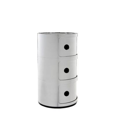 Seitenansicht COMPONIBILI Container 3 Fächer chrom