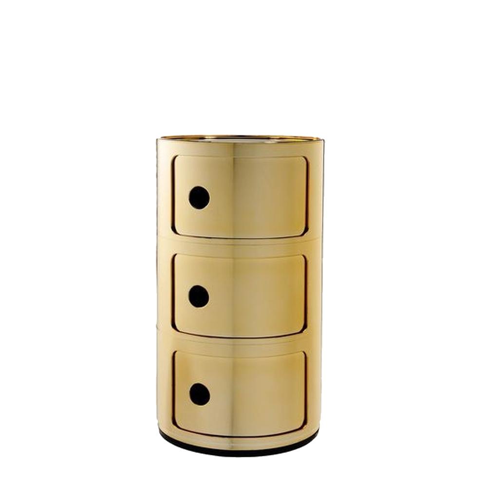COMPONIBILI Container 3 Fächer, gold-Optik