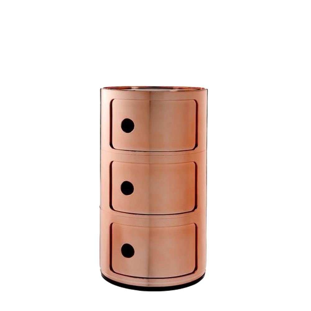 COMPONIBILI Container 3Fächer, kupfer-Optik