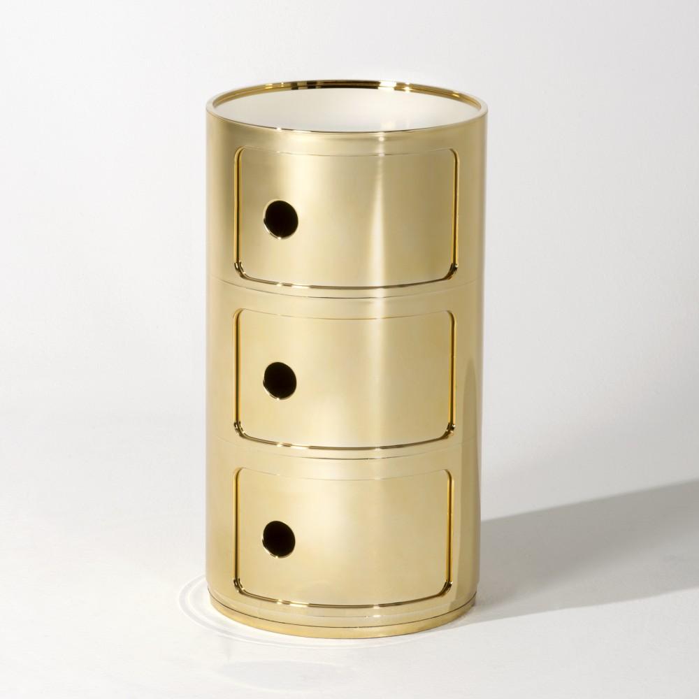 COMPONIBILI Container 3 Fächer gelb metallisiert