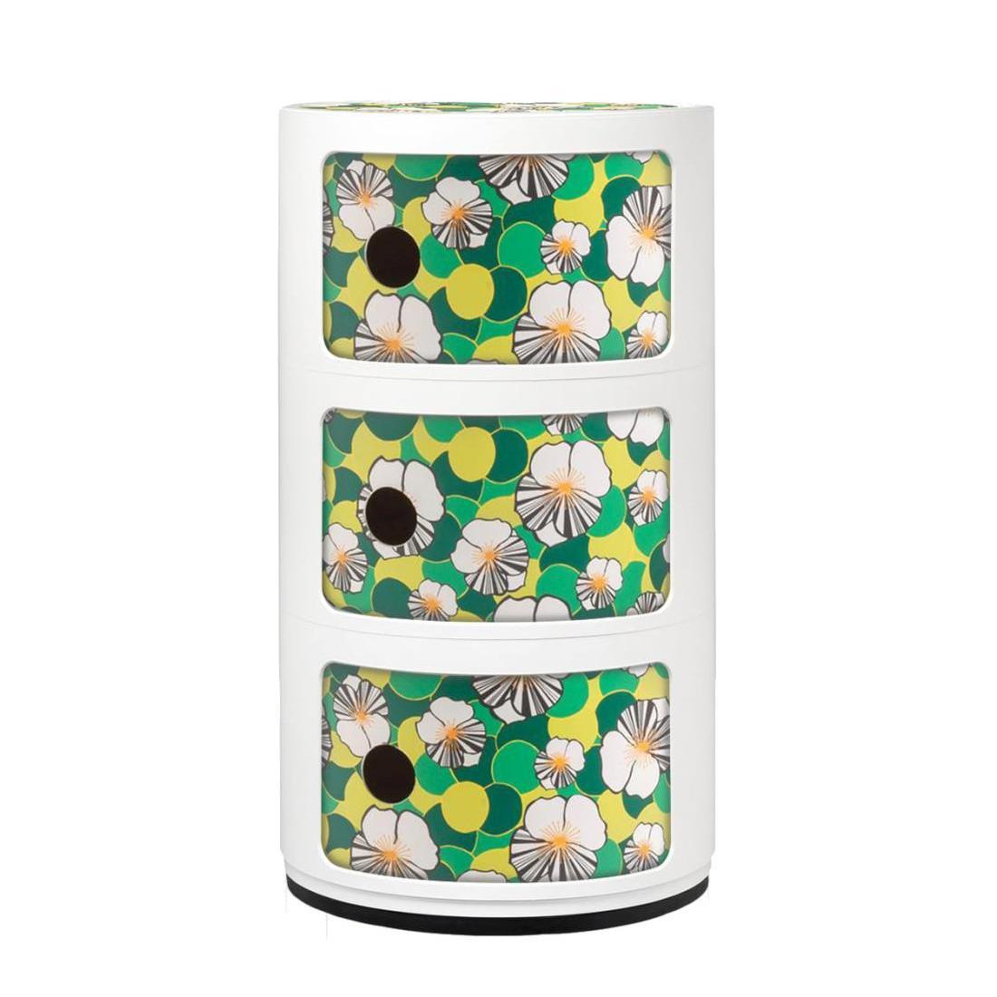 Componibili Container La Double, weiß-grün