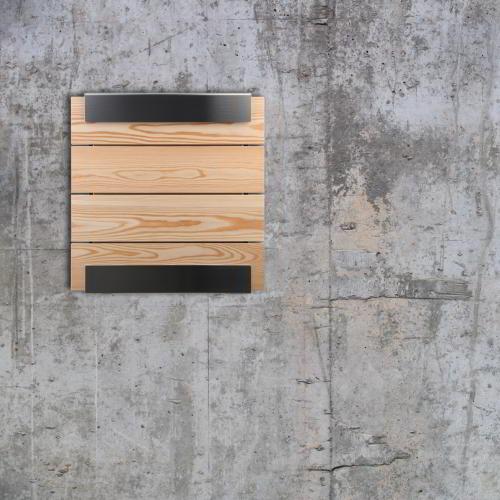 Glasnost Briefkasten Front Holz