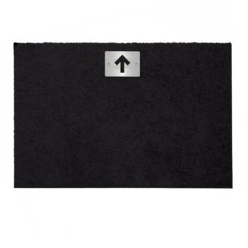 STRAIGHT Fußmatte 87 x 57 cm, Schild Edelstahl mit Motiv Pfeil