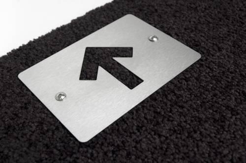 STRAIGHT Fußmatte groß, Detail Schild