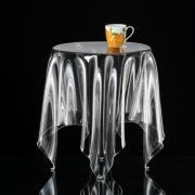 essey Grand Illusion Couchtisch  ø 42, H 52 cm, transparent