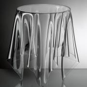 essey Illusion Beistelltisch ø 31, H 44 cm, transparent