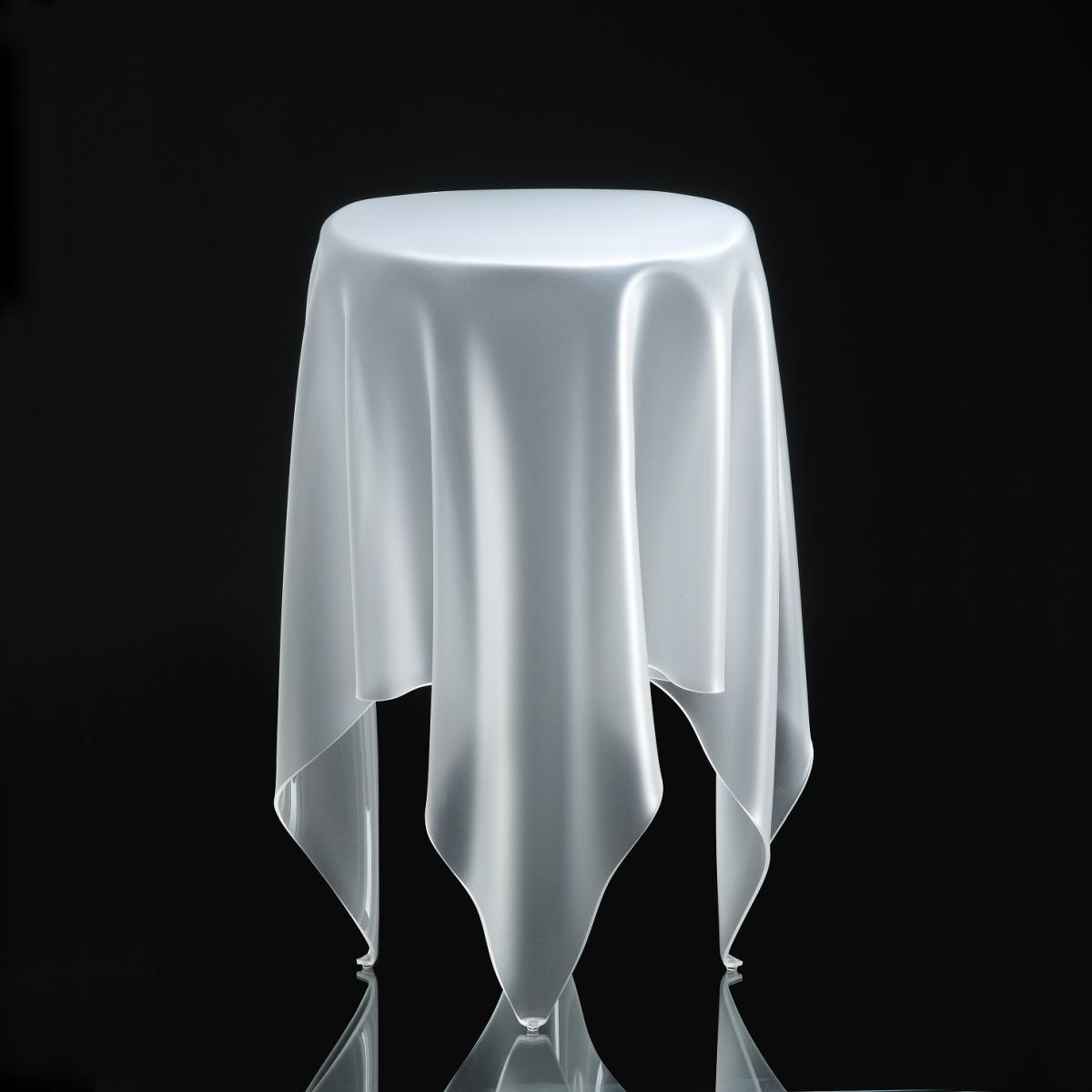 essey Tall Illusion Beistelltisch ø 32 , H 56 cm, ice