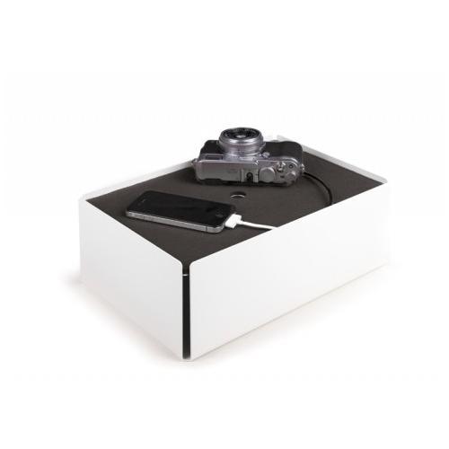 Charge-Box Kabelbox weiß/grau