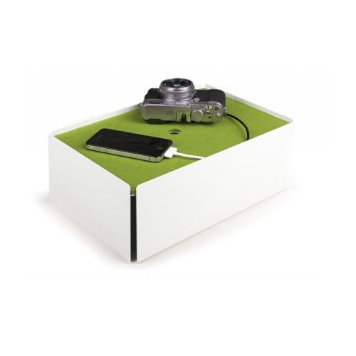 Charge-Box Kabelbox weiß/grün