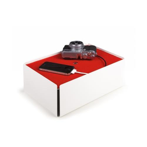 Charge-Box Kabelbox weiß/rot