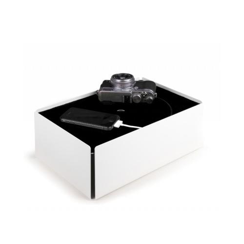 Charge-Box Kabelbox weiß/schwarz