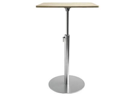 Brio Tisch Stehtisch verstellbar, Platte quadratisch Eiche gebleicht