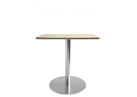 BRIO Bistrotisch / Esstisch, FIX 72 cm, Platte quadratisch 60x60 cm Eiche gebleicht