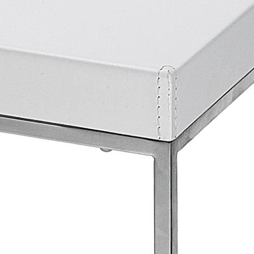 Cubo Barhocker Detail Leder weiß