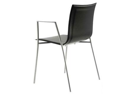 Stuhl Thin S15 -  schwarz offenporig