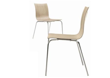 Stuhl Thin S16 Stuhl - Eiche gebleicht