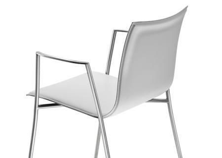Stuhl Thin S15 - Leder weiß