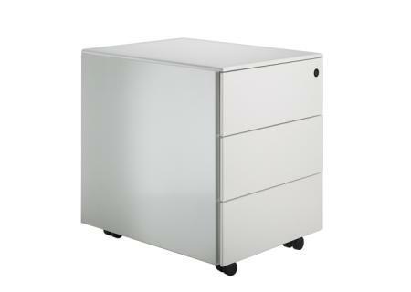 Cassettiera Bürocontainer C3 weiß lackiert