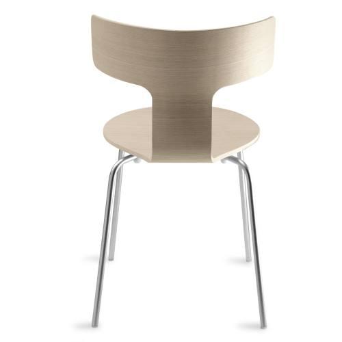 FEDRA Stuhl stapelbar, eiche gebleicht Rückenansicht