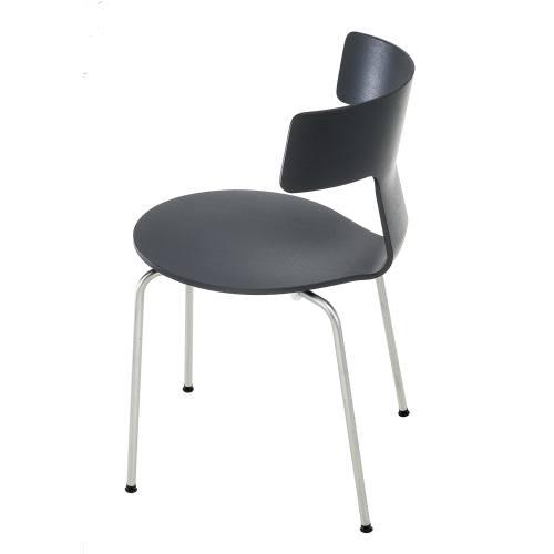 FEDRA Stuhl stapelbar schwarz gebeizt