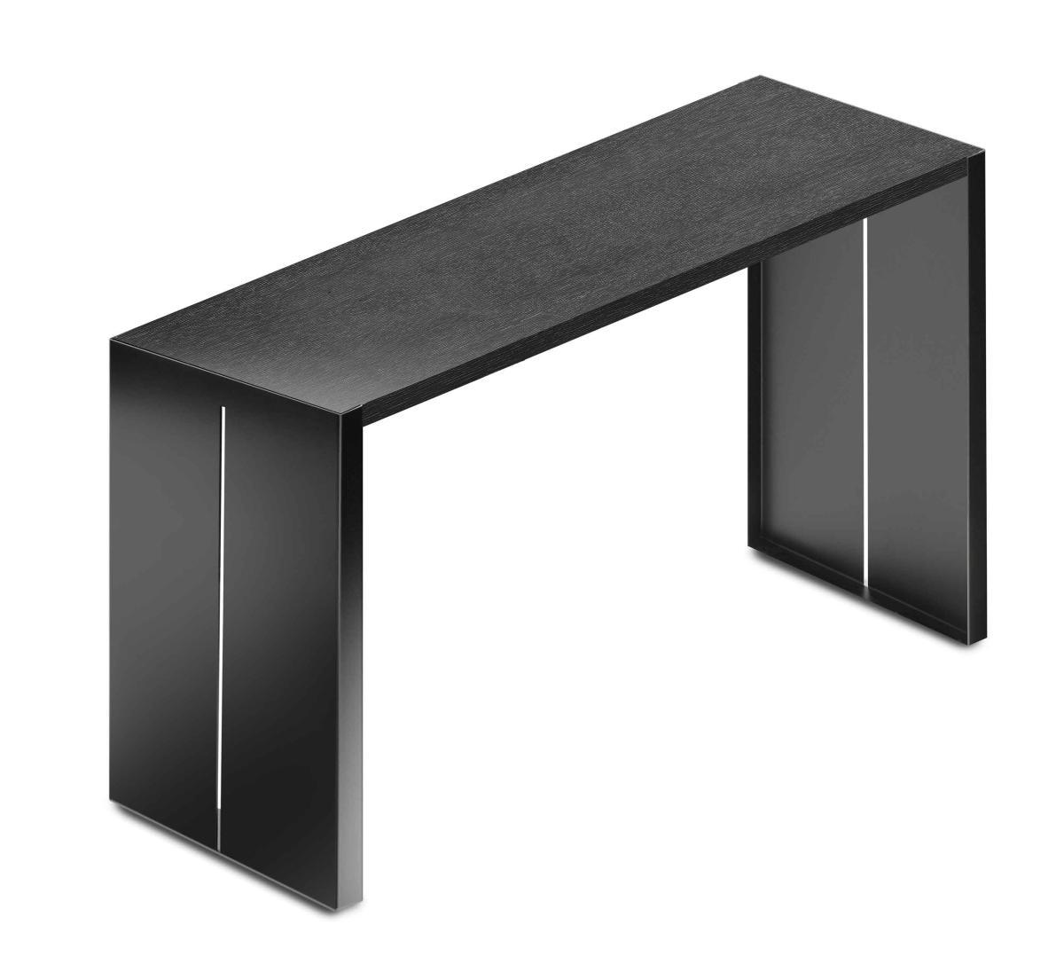 PANCO Tresentisch schwarz mit Tischplatte Eiche schwarz
