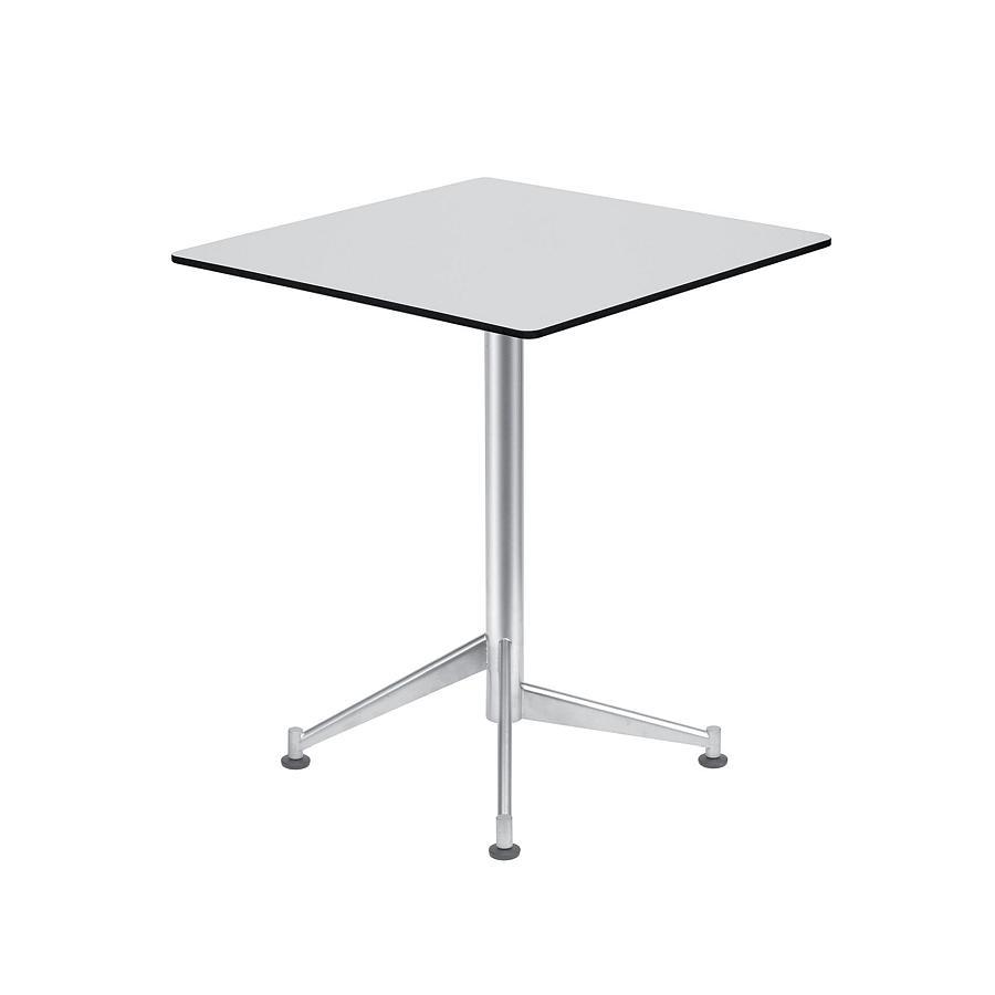 SELTZ Bistrotisch 60x60 cm Edelstahl / HPL weiß
