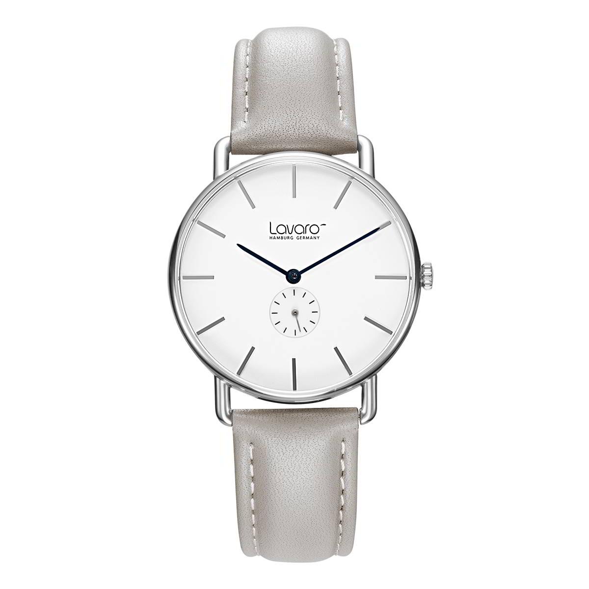 AIR Damen Armbanduhr 36 mm, LA2002 Stahl poliert