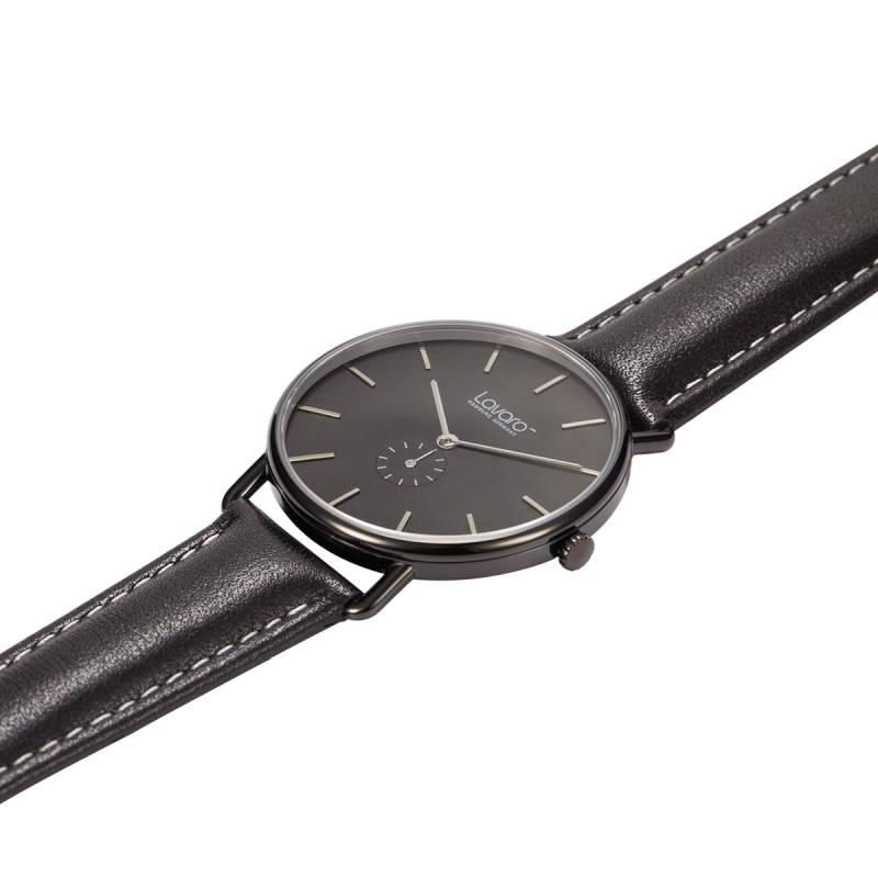 AIR Armbanduhr Dau 36 mm LA20004, pure Eleganz in schwarz
