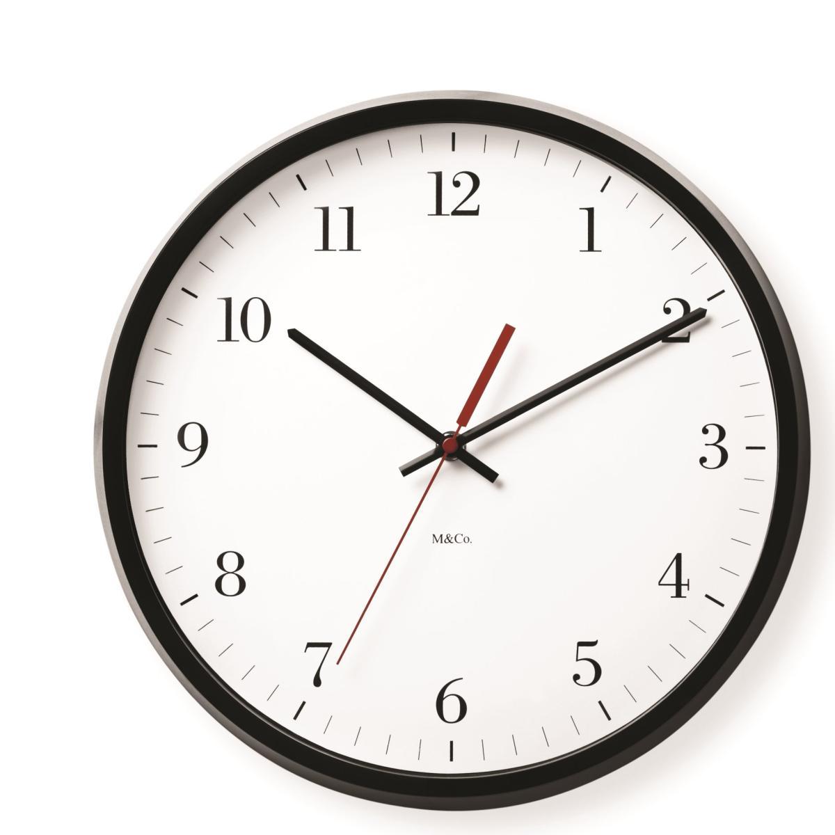 M&Co Bodoni Clock Wanduhr
