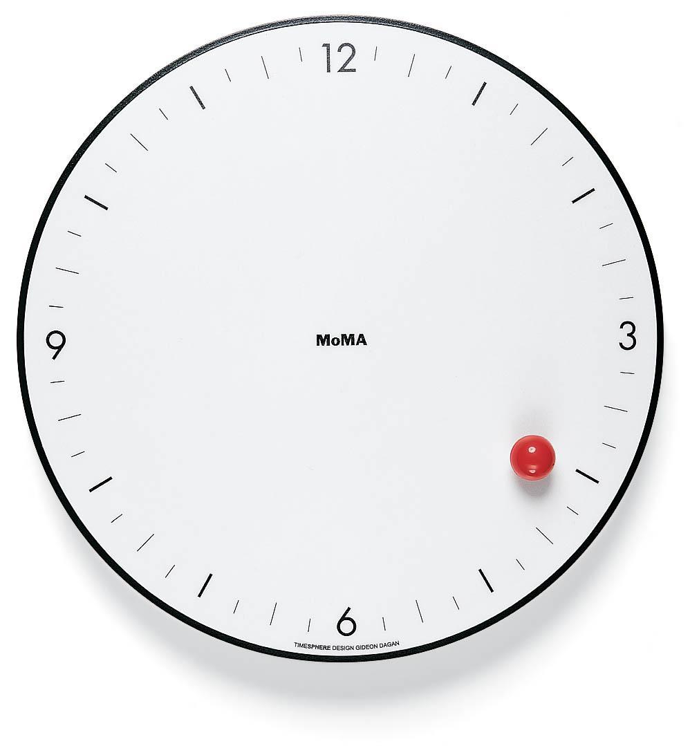 Timesphere Wanduhr mit Kugel-Zeiger, 24 cm