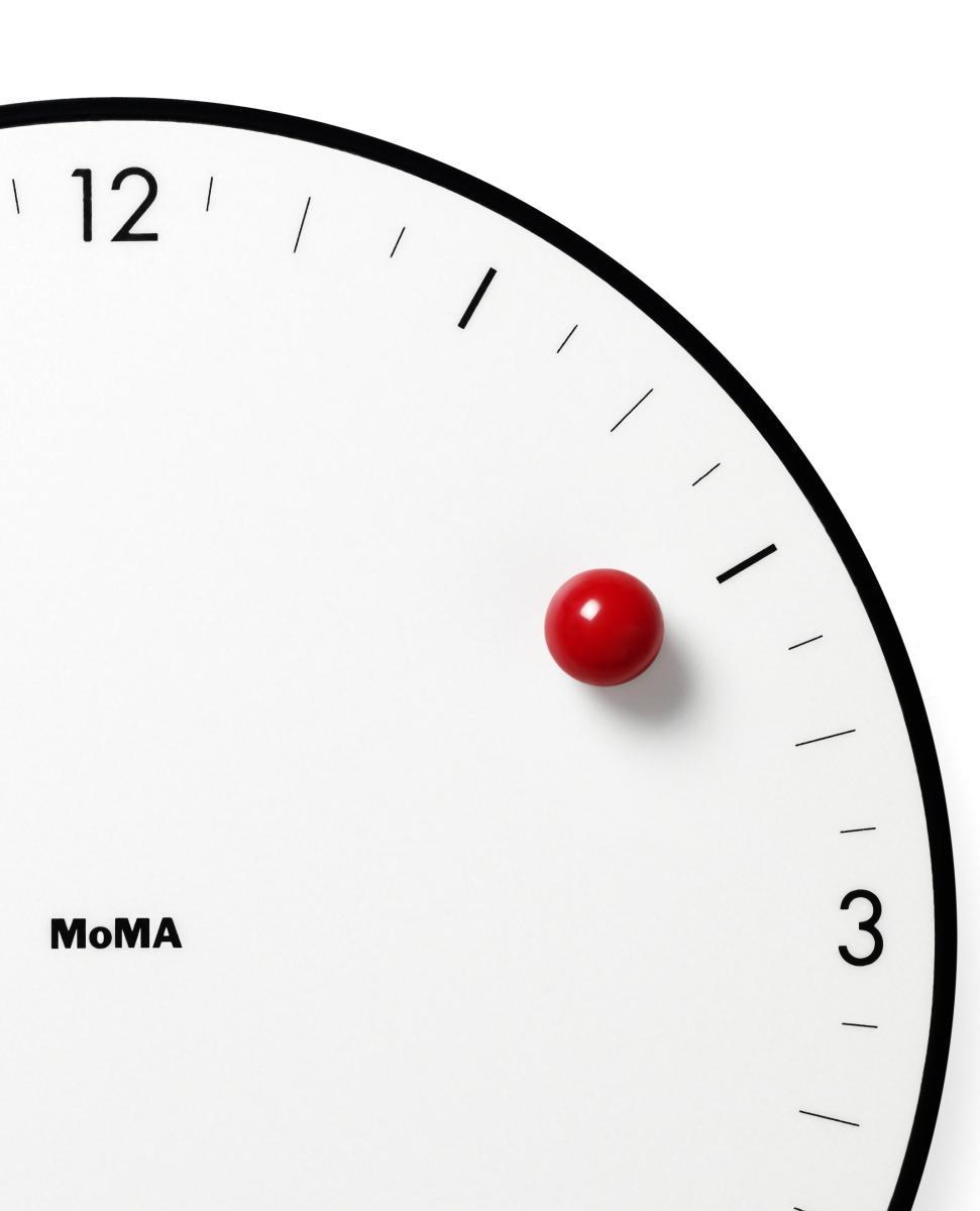 Die rote Kugel der TIMESPHERE Wanduhr im Detail