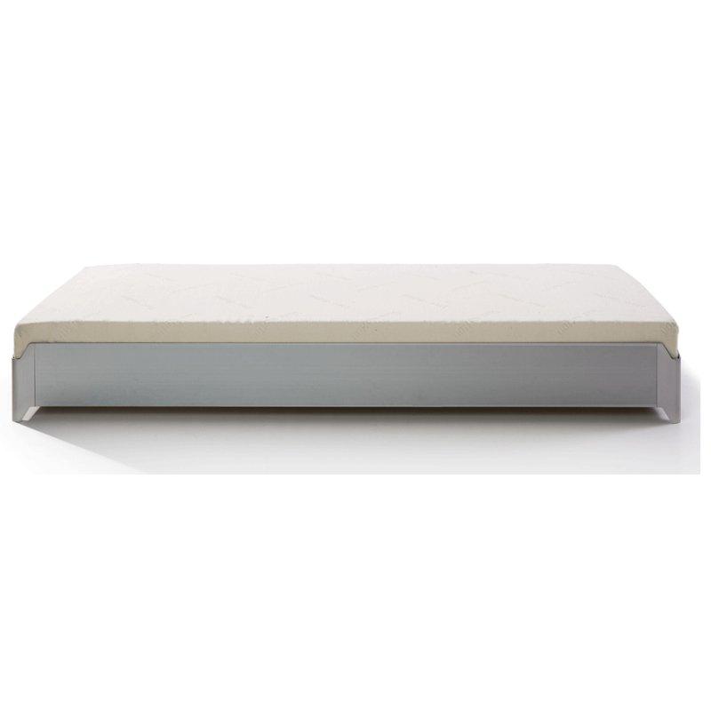 TORO Stapelbett Aluminium gebürstet Einzelbett