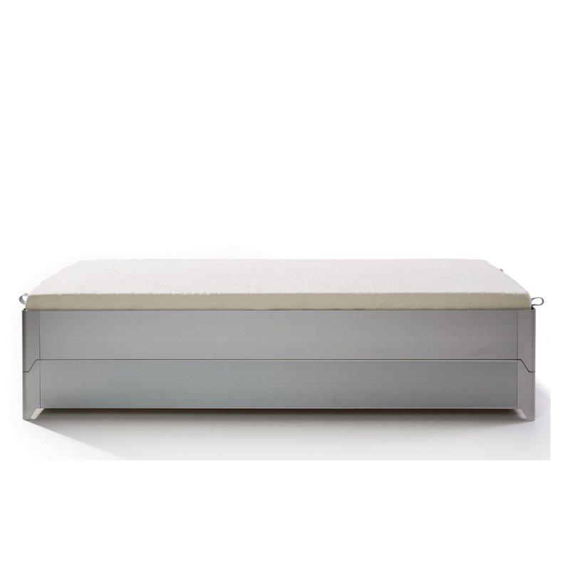 TORO Stapelbett Aluminium gebürstet 2er-Set