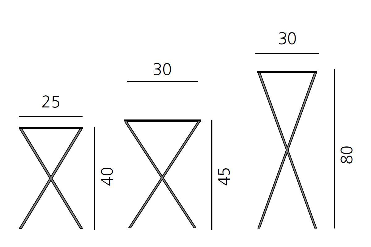 LAX Konsole Stahl, die 3 verschiedenen Größen in der Übersicht