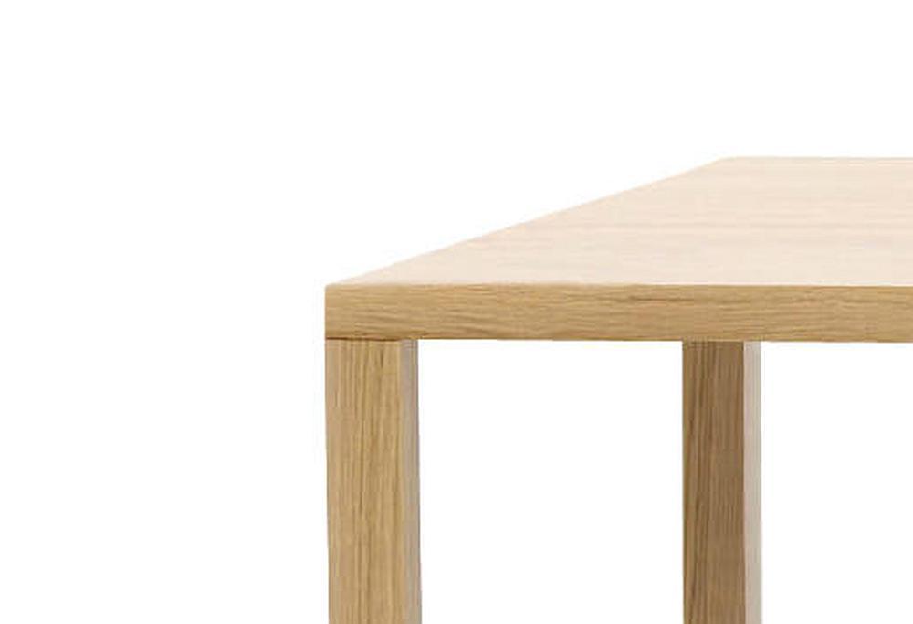 SLIC Tisch mit Detail Verbindung von Bein zur Platte