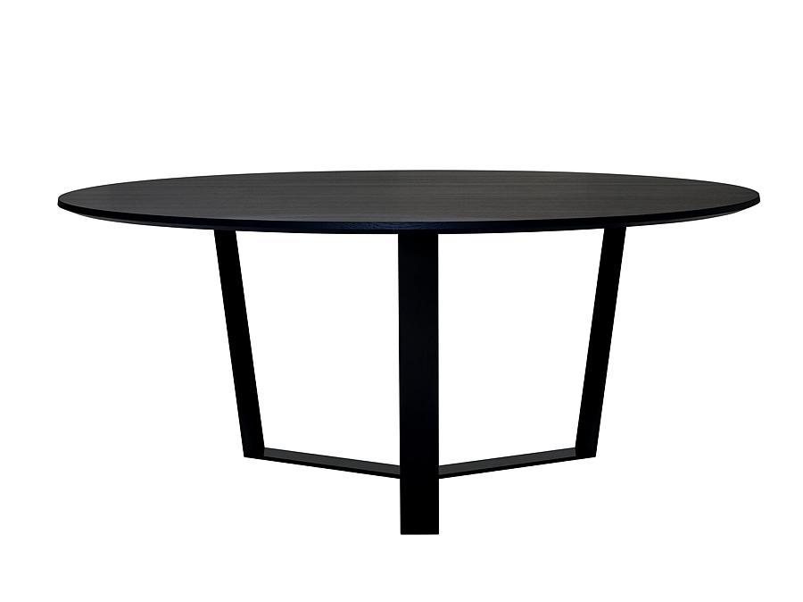 PERO Tisch rund, Platte Eiche schwarz