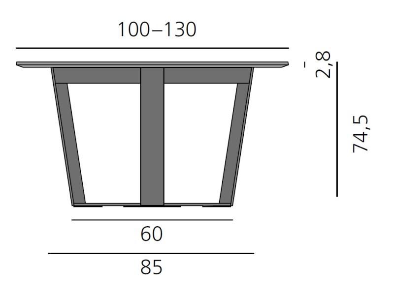 PERO Tisch rund, Platte 100 - 130 cm