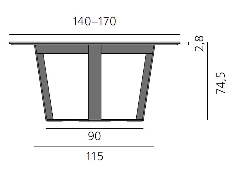 PERO Tisch rund, Platte 140 - 170 cm