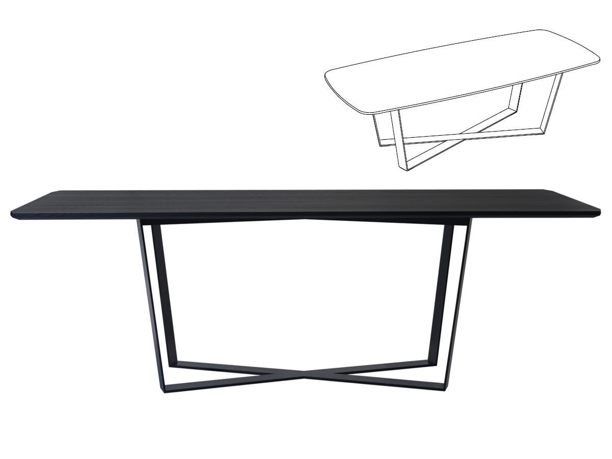 PERO Tisch mit Platte Barrelshape