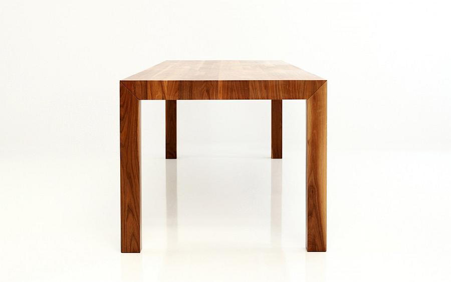 VOLTA Tisch mit Maserung längstlaufend