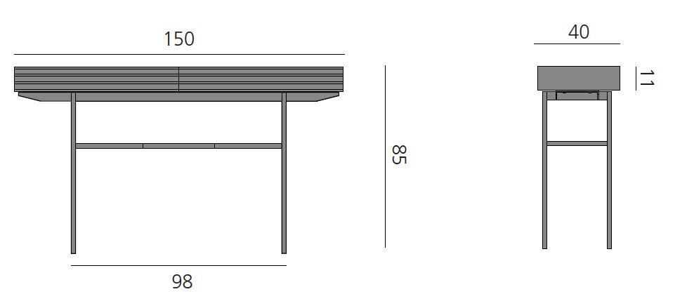 Details der HARRI Konsole 150 cm
