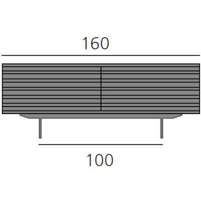 HARRI Sideboard 160 cm, mit 2 Schubladen je 80 cm