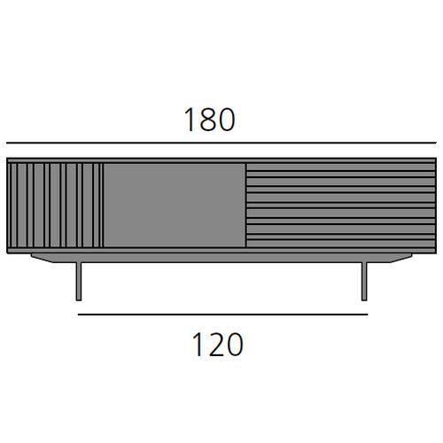 HARRI Sideboard 180 cm mit 1x Tür links, 1 offenes Fach und 1 Schublade