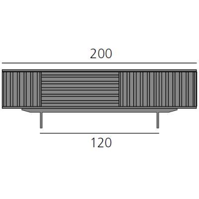 HARRI Sideboard 200 cm mit 1x Tür links, 1 Schublade und 2x Tür rechts