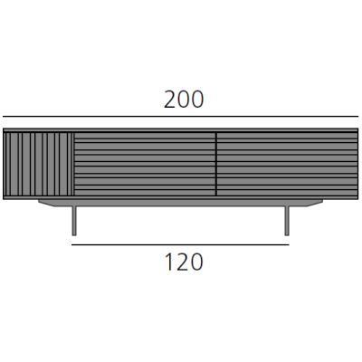 HARRI Sideboard 200 cm mit 1x Tür links und 2 Schubladen