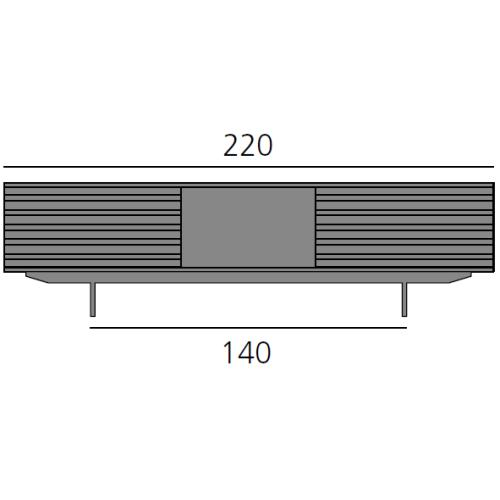 HARRI Sideboard 220 cm mit 1x Schublade, 1x offenes Fach, 1x Schublade