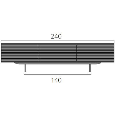 HARRI Sideboard 240 cm mit 3 Schubladen je 80 cm
